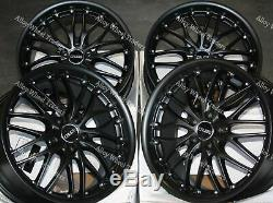 18 Black 190 Alloy Wheels For Mercedes Vito Viano Vw Transporter Mk3 Mk4