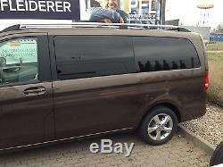 2 Roof Bars Alu Brush Mercedes Vito / Viano W639 And W447 Short Chassis