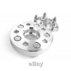 4x 20mm 5x112 Pcd Channel Spacers M14x1.5 Cb 66.6mm For Mercedes Benz Audi