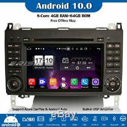 8-core Dsp Android 10 Dab + Radio Gps Mercedes A / B Class Viano Vito Sprinter