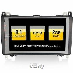 9 Android 8.1 Car Radio Dab + Gps Mercedes Benz A / B Viano Vito Obd Sprinter Class