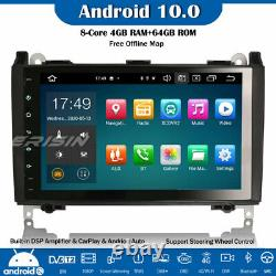 9 Dab + 10 Android Car Gps Dsp 4g Mercedes A / B Class Viano Sprinter Crafter