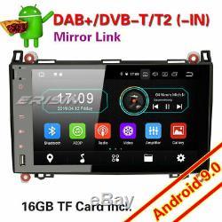 9autoradio Android 9.0 Mercedes A / B Class Vito Sprinter Viano Vito W169 Dab + 4g