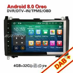 9octa-core Dab + Android 8.0 Car Radio Mercedes A / B Sprinter Class Viano Vito 4g