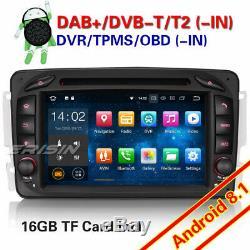 Android 8.1 Dab + Car Radio Mercedes Benz C / Clk / G Class W203 W209 W463 Vito Navi