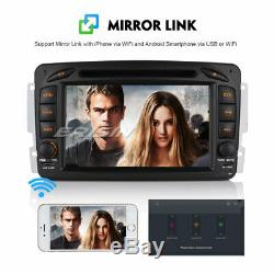 Android 8.1 Gps Car Radio Dab + DVD Bt Mercedes Benz C / Clk / G Class W203 Vito Viano