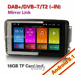 Android 8.1 Gps Car Radio Mercedes Benz C / Clk / G W203 Class W209 Viano Vito Dab +
