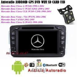 Autoradio Android Gps Bluetooth DVD Wifi Mercedes Class C-vito-clk-viano-camera