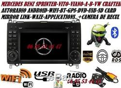 Car DVD Gps Android Camera Mercedes-sprinter Vito-viano-a / B + Vw Crafter