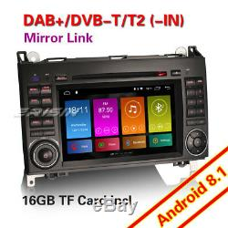 Dab + Android 8.1 Car Gps 4g Mercedes Benz A / B Class Sprinter Vito Viano Tnt
