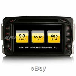 Dab + Android 9.0 Car Mercedes Benz C / Clk / G Class Viano Vito Wifi + Navi Obd2