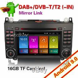 Dab + Radio Android 9.0 Mercedes Class A / B Viano Vito Sprinter Carplay Dsp CD