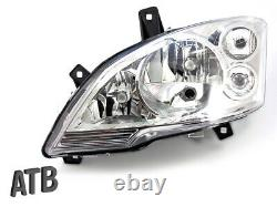 Headlights With Phrase Servo Motor Left-right Set For Mercedes Vito W639