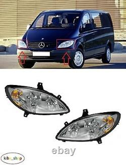 Mercedes Viano/vito W639 2003 2010 New Front Headlights Pair Left + Right Lhd
