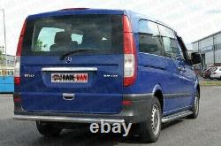 Mercedes Vito Camionnette Viano Side Bars Not C2 Inox Steel Court Long 2004- In