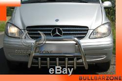 Mercedes Vito / Viano 2004-2010 Bullbar Low With Stainless Steel Protection Grille