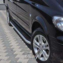 Mercedes Vito / Viano W447 2015- Alu Footboards, Anti-slip, Medium