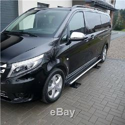 Mercedes Vito / Viano W447 2015- Stainless Steel Footboards, Anti-slip, Extra Long