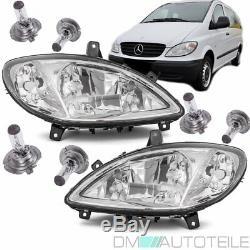 Mercedes Vito Viano W639 Headlights Set Clear Glass H7 / H7 / H7 + Anti-fog 03-10 Look Oe