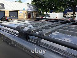 Mercedes Vito Viano W639 Lockable Black Cross Roof Bars 90 Capacity X3