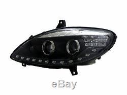 V-class W639 Viano 03-10 5d Led Bar Front Lights Headlight Black For Mercedes-benz Rhd