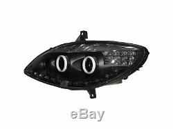 V-class W639 Vito 03-10 Cotton Halo Front Lights Headlight Black For Mercedes-benz Rhd