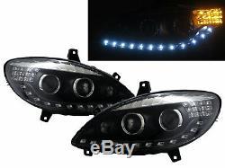 V-class W639 Vito Mk2 03-10 5d Led Bar Front Lights Headlight Bk For Mercedes-benz Rhd
