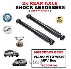 2x Arrière Amortisseurs Set pour Mercedes Benz Viano Vito W639 MPV Bus 2003-