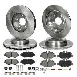 4x Disques de frein + 8x plaquettes avant arrière Mercedes-Benz Vian Vito W639