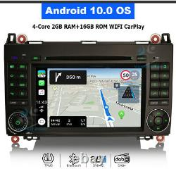 7 Android 10 GPS Autoradio CarPlay for Mercedes Sprinter Viano W639 VW Crafter