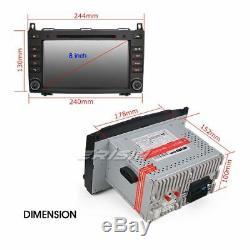 8Android 8.0 Autoradio DAB+ GPS Mercedes Classe A/B Vito Sprinter Viano W245 CD