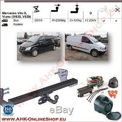 AHK ES13 Mercedes Vito W639 Bj. 2003-2014 Dispositif D'Attelage Attelage de