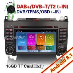 Android 8.1 DAB+ Autoradio Mercedes Benz A/B Class W169 Sprinter Vito Viano WiFi