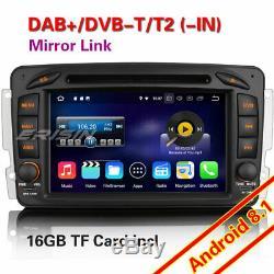 Android 8.1 GPS Autoradio DAB+DVD BT Mercedes Benz C/CLK/G Class W203 Vito Viano