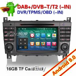 Android 9.0 Autoradio DAB+CD GPS TNT Bluetooth Mercedes Class C/G/CLK Vito Viano