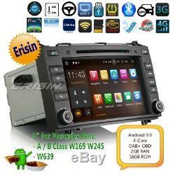Android 9.0 Autoradio Mercedes Benz A B W169 W245 W639 Viano DAB+TNT volant 4821