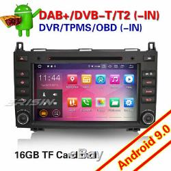 Android 9.0 DAB+ Autoradio GPS Mercedes Classe A/B Vito Sprinter Viano W169 W639