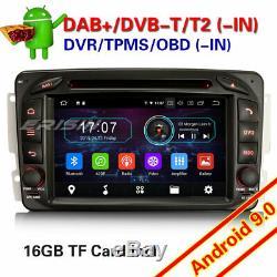Android 9.0 DAB+ Autoradio Mercedes-Benz C/G/CLK class W203 W463 Viano Vito DVD