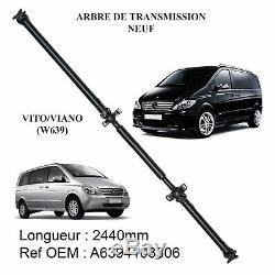 Arbre de transmission 2441 mm 2441mm pour Mercedes Vito W639 Viano + Palier