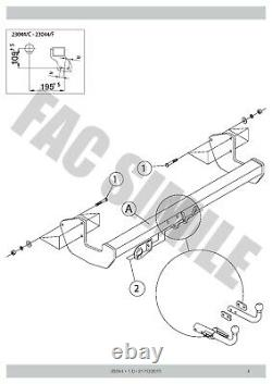Attelage Col Cygne + 13broches C2 Kit pour Mercedes Vito Van 05-14 23044/F FRB4