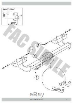 Attelage Démontable + 13b C2 Kit pour Mercedes VIANO MPV 03-05 23044/C A1