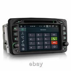 Autoradio Android 10.0 avec Apple Carplay via USB, DAB+ Mercedes CLK, Vito, Viano