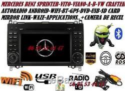 Autoradio Gps Dvd Android CAMERA MERCEDES SPRINTER-VITO-VIANO-A/B + VW CRAFTER