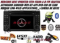 Autoradio Gps Dvd Usb Android MERCEDES VITO-VIANO-SPRINTER-CLASSE A/B + Caméra