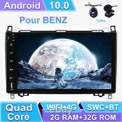 Autoradio Stereo Android 10.0 Pour Mercedes Benz W447 W639 W169 W245 Vito3 Viano
