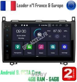 Autoradio écran 9 GPS Android 9.0 Mercedes Classe A B Viano Vito Sprinter & VW