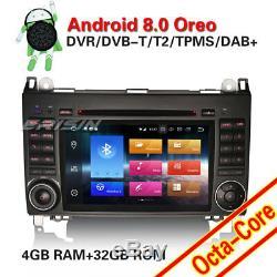 DAB+Autoradio Mercedes Classe A/B Vito Sprinter Viano W245 7Android 8.0 CD GPS
