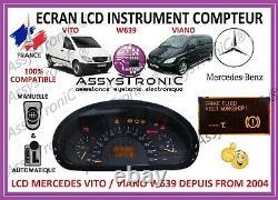 ECRAN LCD COMPTEUR ODB de MERCEDES VITO / VIANO à partir de 2004! Sous 48H