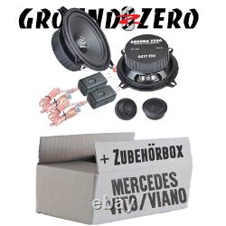Ground Zero Haut-Parleur pour Mercedes Vito W639 13cm System-Einbauset Paire