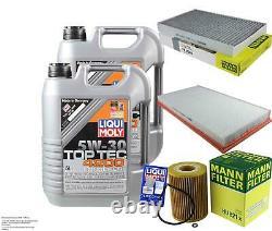 LIQUI MOLY 10 Litre 5W-30 Huile + Mann-Filter Set Pour Mercedes-Benz Viano W639